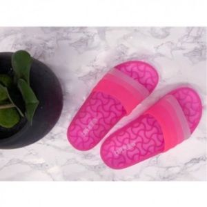 Neon Pink Jelly Slides